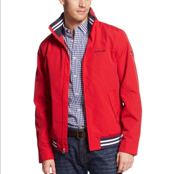 81fa455d Tommy Hilfiger Jackets & Coats | Water Stop Mens Jacket Red Large ...