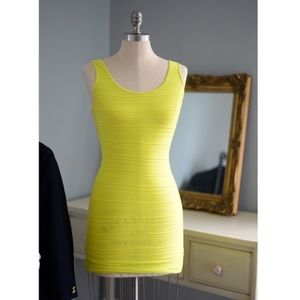 BEBE Bodycon Yellow Mini Dress Small EUC