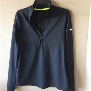 WOMENS NIKE, three-quarter zip, L