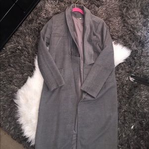 Jackets & Blazers - Long Gray Trench Coat Size L *BRAND NEW*