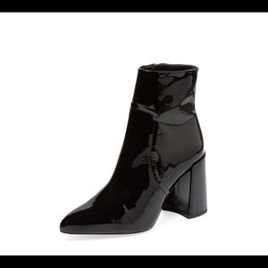 """Patent leather stacked heel (3.5"""") bootie"""