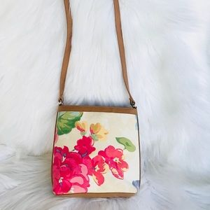 Fossil Floral Crossbody Bag