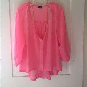 URBAN OUTFITTERS pink blouse