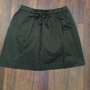 High waisted Satin Green Madewell Skirt