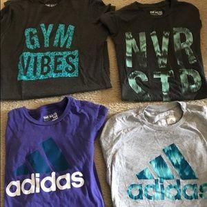 4 Adidas shirts