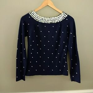 Peck and Peck Navy dress sweater