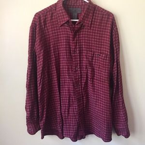Checkered Maroon Flannel