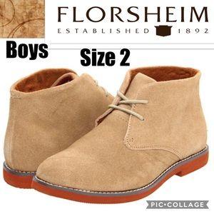 Boys Florsheim Quinlan Jr Sand Suede Lace Up Chukka Boots 16505 269