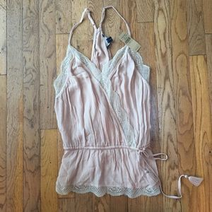 BNWT American Eagle light pink top with lace S