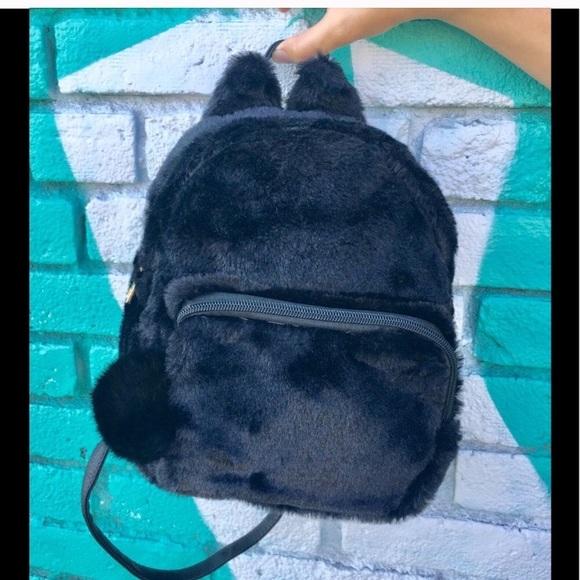 cd9fe9e1e981f0 Last one ▫️Cat Faux Fur Mini Backpack