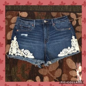 💖LACE DETAIL💖 HIGH WAISTED SHORTY