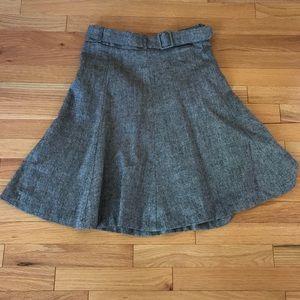 H&M wool knee-length flare skirt