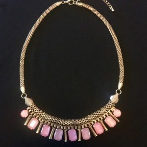 Lovely Vintage Pink and Purple Bauble Necklace