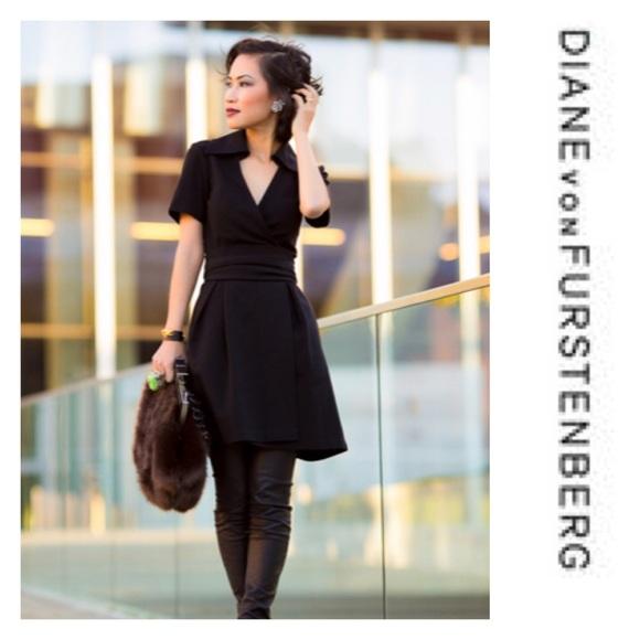 Diane Von Furstenberg Dresses & Skirts - Diane von Furstenberg | Navy Blue Wrap Dress