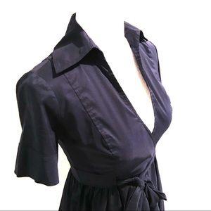 Diane Von Furstenberg Dresses - Diane von Furstenberg | Navy Blue Wrap Dress