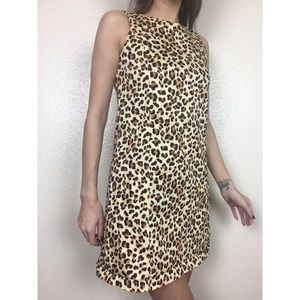 Zara Trafaluc Leopard Print Sheath Shift Dress XS