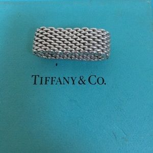 🔴Authentic Somerset Tiffany & Co Mesh Ring 🎈🔴