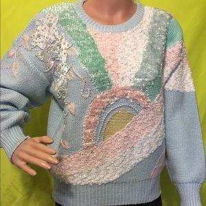 Vintage 80s/90s Pastel Embellished Sweater