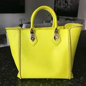 Henri Bendel Neon Green Bag