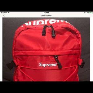 Supreme Backpack 🎒 RED🔥🔥🔥