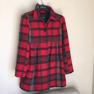 Jackets & Blazers - Active plaid red petticoat with satiny lining
