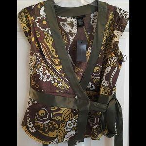 BCBGMAXAZRIA silk top with tag beautiful sexy top