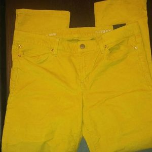 Gap 1969 nwt straight mustard corduroy pants 16
