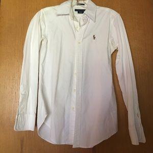 White Ralph Lauren classic fit button down size 2