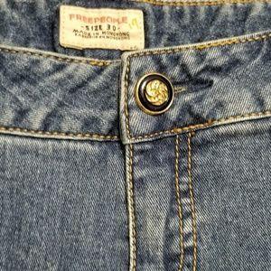 Free people vintage wide leg flare jeans Size 30