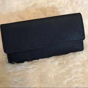 Zara Long Navy Wallet