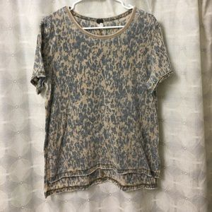 Free People Cheetah Tee