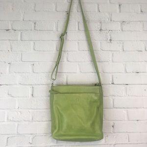 Etienne Aigner Green Leather Crossbody Bag