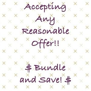 Make an Offer or Bundle your likes!