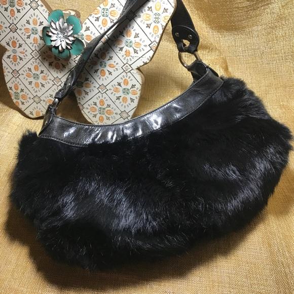 4dd119efe0 Kenneth Cole Handbags - Kenneth Cole Black Fur Purse 🍁Excellent condition