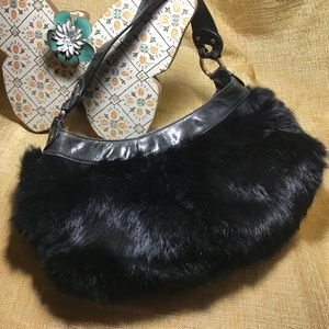 Kenneth Cole Black Fur Purse 🍁Excellent condition