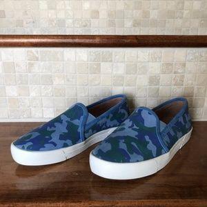 Joie Huxley Camouflage Skate Sneaker Blue NWOB