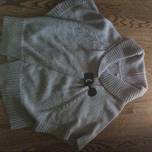 Vertigo Grey poncho sweater