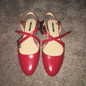 Zara ballet strappy flats size 39/8