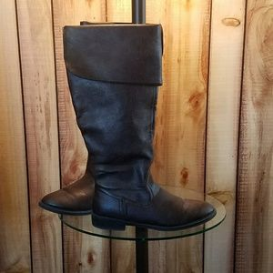 Cato Brown Cuffed Boots. Sz 9