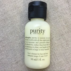 New Purity made simple cleanser travel size