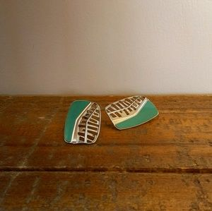 VTG Signed Edgar Berebi Enameled Earrings
