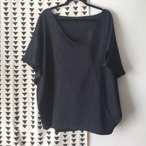Zara Basic Oversized Black Blouse size M