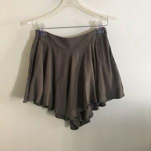 Army Green Flowy Shorts