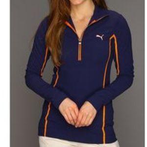 Women's Puma Golf Monoline 1/4 Zip Top Sz Large