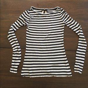 BCBG long sleeve striped T-shirt