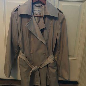 Calvin Klein driving length trench coat