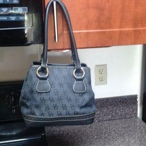 Dooney&Bourke canvas& Leather trim bag