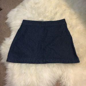 BDG Side Zip Mini Jean Skirt
