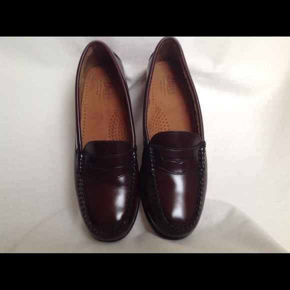 5c6189e7beb Bass Weejuns Burgundy Leather Penny Loafer
