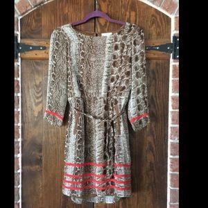 Snakeskin Printed Dress